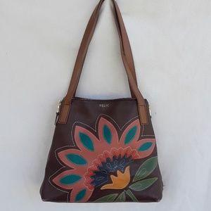 Relic large floral design shoulder bag